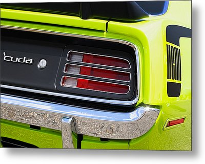 1970 Sublime Green Hemi 'cuda  Metal Print