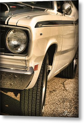 1971 Plymouth Duster 340 Four Barrel Metal Print by Gordon Dean II