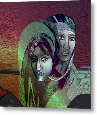 Metal Print featuring the digital art 1972 - 0n A Gloomy Day - 2017 by Irmgard Schoendorf Welch