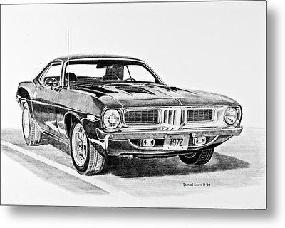 1972 Plymouth Barracuda Metal Print by Daniel Storm