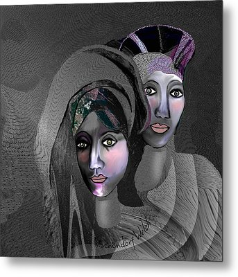 Metal Print featuring the digital art 1973 - Exotic 2017 by Irmgard Schoendorf Welch