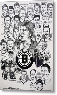 1988 Boston Bruins Newspaper Poster Metal Print