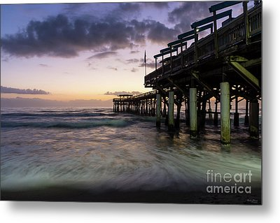 1st Dawn Cocoa Pier Metal Print by Jennifer White