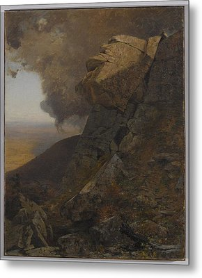 A Cliff In The Katskills Metal Print by Jervis McEntee
