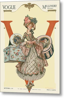 A French Shepherdess Metal Print