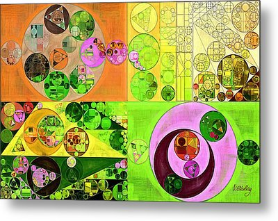 Abstract Painting - Turtle Green Metal Print by Vitaliy Gladkiy