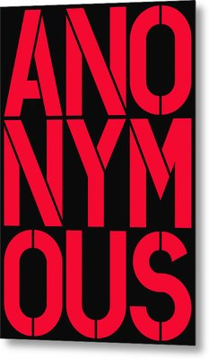 Anonymous Metal Print by Three Dots