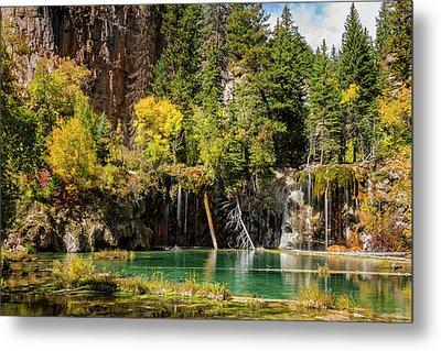 Autumn At Hanging Lake Waterfall - Glenwood Canyon Colorado Metal Print by Brian Harig
