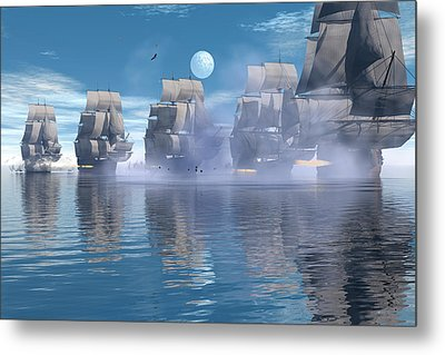Metal Print featuring the digital art Battle Line by Claude McCoy