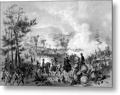 Metal Print featuring the drawing Battle Of Gettysburg by War Is Hell Store