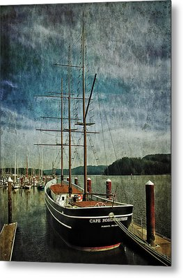 Metal Print featuring the photograph Cape Foulweather Tall Ship by Thom Zehrfeld
