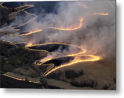 Carefully Managed Fires Sweep Metal Print by Jim Richardson