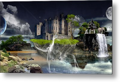 Castle In The Sky Art Metal Print by Marvin Blaine