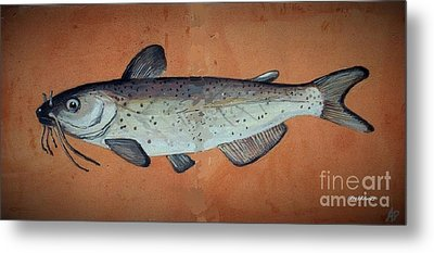 Catfish Metal Print by Andrew Drozdowicz