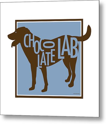 Chocolate Lab Metal Print