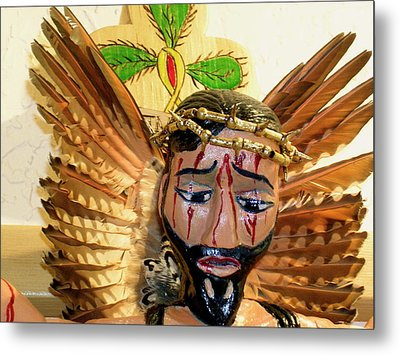 Christo Crucificado Metal Print by George Chacon