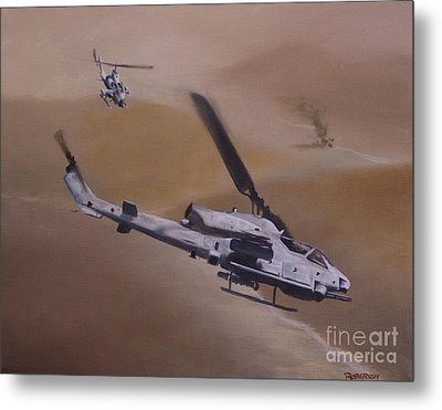 Close Air Support Metal Print by Stephen Roberson