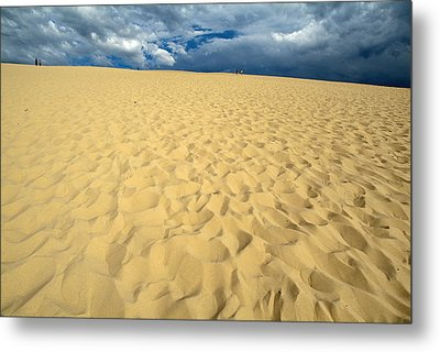 Clouds Over The Great Dune Of Pyla On The Bassin D'arcachon Metal Print