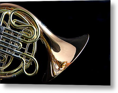 Color French Horn Metal Print