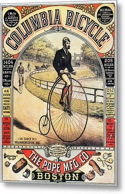 Columbia Bicycles Poster Metal Print by Granger