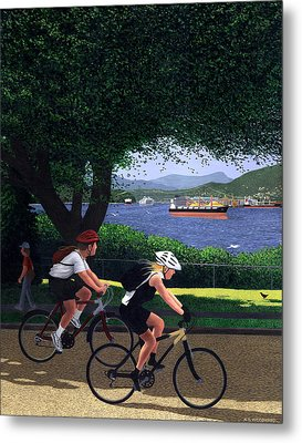 East Van Bike Ride Metal Print by Neil Woodward