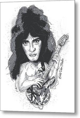 Eddie Van Halen Metal Print by Gary Bodnar