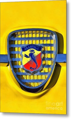 Fiat Abarth Badge Metal Print by George Atsametakis