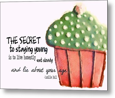 Forever Young Quote Metal Print