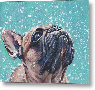 Metal Print featuring the painting French Bulldog by Lee Ann Shepard