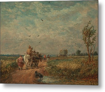 Going To The Hayfield Metal Print by David Cox