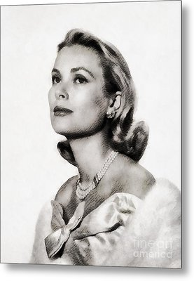 Grace Kelly, Vintage Hollywood Actress Metal Print by John Springfield