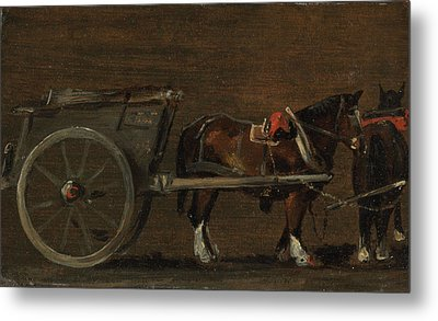 Horse And Cart Metal Print by John Constable