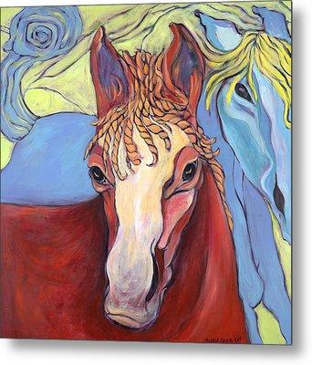 2 Horses Metal Print
