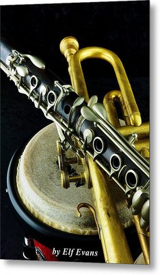 Metal Print featuring the photograph Jazz by Elf Evans