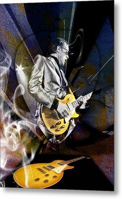 Joe Bonamassa Blue Guitarist Art Metal Print by Marvin Blaine