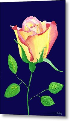 Metal Print featuring the painting Love In Bloom by Rodney Campbell