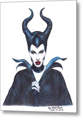 Maleficent  Once Upon A Dream Metal Print by Kent Chua