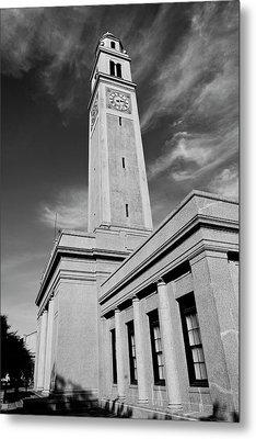 Memorial Tower - Lsu Bw Metal Print