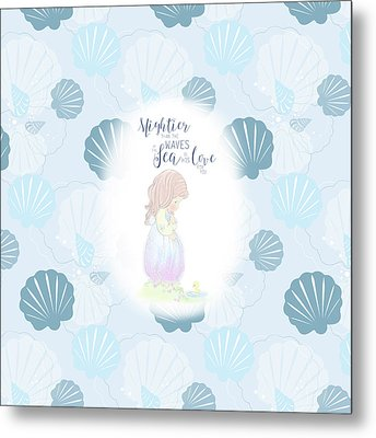 Mightier Than The Waves Metal Print by Precious Moments
