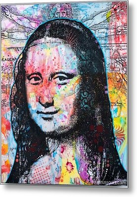 Metal Print featuring the painting Mona Lisa by Dean Russo