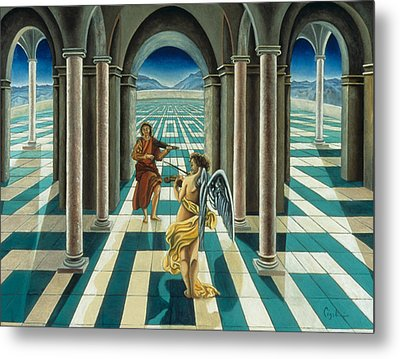 Musicians In The Temple Metal Print by Gloria Cigolini-DePietro