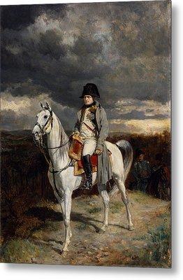 Napoleon Bonaparte On Horseback Metal Print