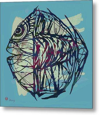 New Pop Art Tropical - Fish Poster Metal Print