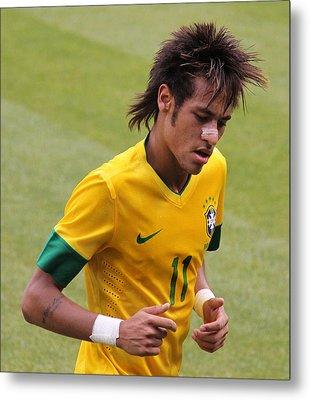 Neymar Junior Metal Print by Lee Dos Santos
