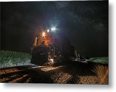 Metal Print featuring the photograph Night Train  by Aaron J Groen