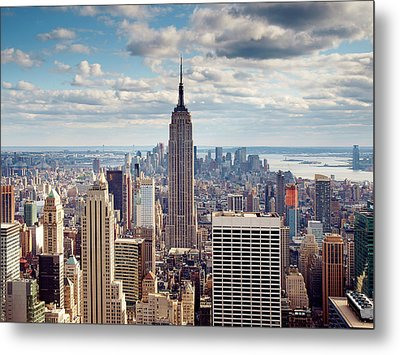 Nyc Empire Metal Print by Nina Papiorek
