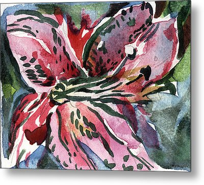 Pink Day Lily Metal Print by Mindy Newman