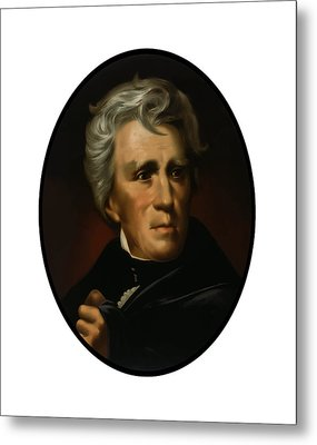 President Andrew Jackson  Metal Print by War Is Hell Store