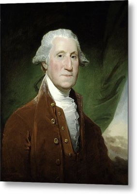 Metal Print featuring the mixed media President George Washington by War Is Hell Store