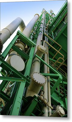 Refinery Detail Metal Print by Carlos Caetano